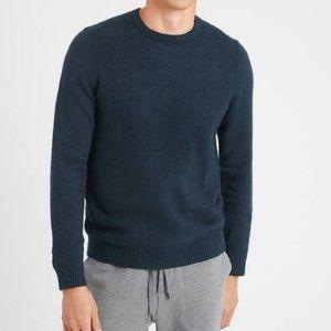 Mens Cozy Waffle Crew-Neck Sweater - XL